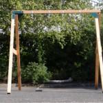 Schommel voor 2 personen, veel schommelplezier met dit mooie, houten buitenspeelgoed