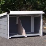 Legnest Budget white-grey met kunststof dak