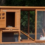 Goedkoop konijnenhok Budget met kunststof dak, ruime deuren en schuiflade