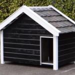 Extra groot hondenhok voor heel grote honden, ook leverbaar met oranje dakpannen