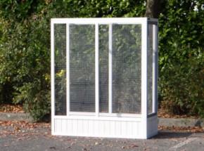 Aanbouwren Voliere Hannah White-Grey 115x52,5x135,5cm