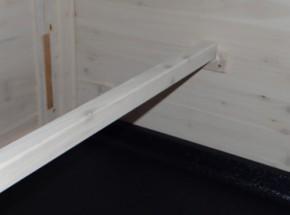 Kippen zitstok met houders Wit 98x3,5x3,5cm