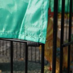 Kippen- of konijnenren Jeffrey: dierenren met zonnescherm