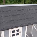 Kippenhok konijnenhok met dakleer dak