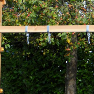 Schommel aan speeltoestel of muur, voor 2 schommelzitjes