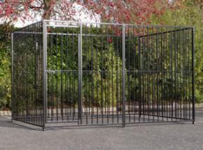 Hondenkennel FLINQ zwart 2x3m