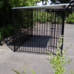 Hondenren FLINQ zwart met dak 2x3m