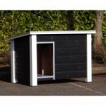 Geïsoleerd Hondenhok Ferro Zwart/Wit met vloerverwarming 129x85x85 cm