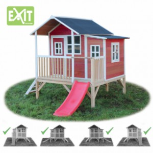 Speelhuis EXIT Loft 350 red