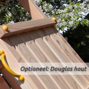 Optioneel: duikelrek met palen van fraai Douglas hout