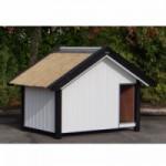Geisoleerd Hondenhok Turbo Wit met Riet 238x155x155 cm
