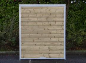 Kennelpaneel Met hout 150x184cm