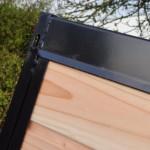 Kennelpaneel zwart met douglas rabat planken
