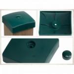 Afdekdoppen voor palen - groen