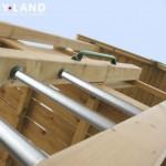 Speeltoren met RVS trap-sporten
