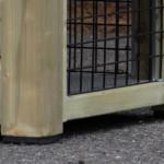 Konijnenhok met kunststof pootjes