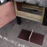 Verwijderbare bodem legnest van betonplex