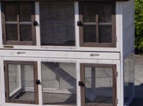 Plexiglas Isolatie Set voor konijnenhok Rosa