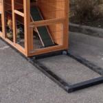 Fundering voor kippenhok - konijnenhok