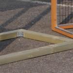 Funderingsbalken voor kippenhok - koniojnenhok Double Small met ren