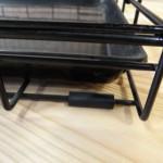 Zwarte, stevige hondenbench 124cm, met anti-slip voetjes