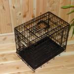 Zwarte hondenbench van 48cm: mooie en stevige bench voor klein hondje
