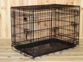 Stevige Hondenbench 3-deurs, 78cm met gratis anti-slip voetjes 78x49x57cm