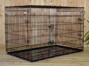 Hondenbench XXL, Extra Groot: door z'n formidabele afmeting van 136x83x92cm de grootste hondenbench voor de grootste hond!
