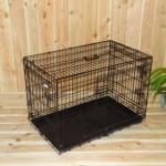 Stevige Hondenbench 93cm: zwarte, metalen draadkooi voor uw hond