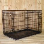 Stevige Hondenbench met 3 deuren, met gratis anti-slip voetjes, afm. 109x71x78cm