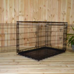 Hondenbench 109cm, robuust model met drie grote openingen