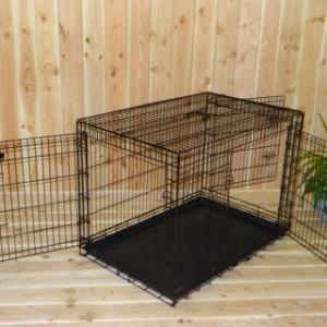 Stevige Hondenbench, 3 ruime deuren, 109cm