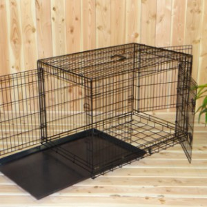 Hondenbench 109cm, met handige uitschuifbare lade om gemakkelijk schoon te kunnen maken