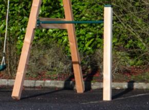 Aanbouw duikelrek groen met 1 Douglas paal 125 cm