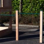 Duikelrek als aanbouw - dubbel duikelrek Groen met 2 Douglashouten palen 125 cm