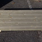 Honden vloer van hout 118x72 cm