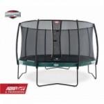 BERG trampoline Elite Groen - met safetynet Deluxe 430cm