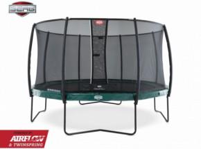 BERG trampoline Elite Groen - met safetynet Deluxe 380cm