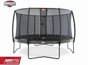 BERG trampoline Elite Grijs - met safetynet Deluxe 380cm