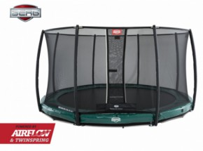 BERG InGround trampoline Elite Groen - met safetynet Deluxe 430cm