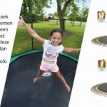 BERG Gold spring trampoline veren