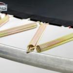 Trampoline BERG Champion met veiligheidsnet Deluxe 270cm - Twinspring Gold veren