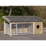 Hondenkennel Roxy 2 met nachthok 346x132x150 cm