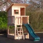 Luxe Speeltoren Brach Hut met glijbaan, Douglashout