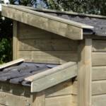 Geimpregneerd hout en keramische dakpannen