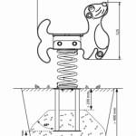 Veerwip zeehond afmetingen met betonanker