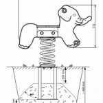 Veerwip olifant afmetingen met betonanker