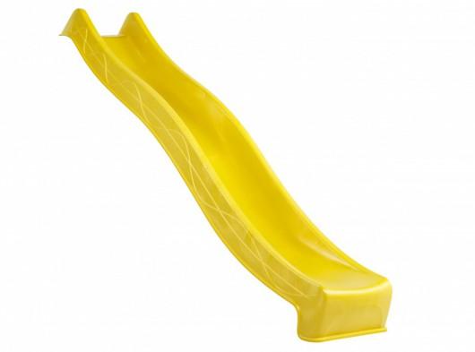 Glijbaan geel, lengte 290cm, model Tsuri voor plateauhoogte 150cm
