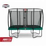Trampoline BERG Ultim Champion Groen - met veiligheidsnet Deluxe 330x220cm