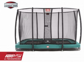 Trampoline BERG Ultim Champion InGround Groen - met net Deluxe 330x220cm